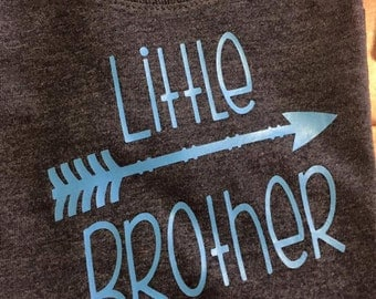 Little Brother shirt / Little Brother arrow/ Arrow shirt/ Brother shirt / Boys shirt