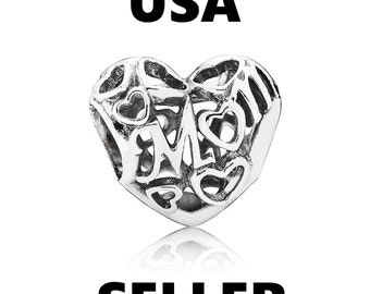Authentic Pandora Motherly Love Charm Bead Mom Hearts