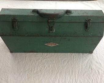 Vintage S & K Metal Tool Box
