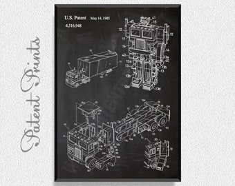 Transformer Optimus Patent Print, Transformers Art, Transformers Party, Transformers Gift, Transformers Poster, Transformers Print