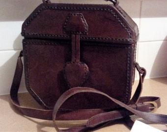 40 % off Boho Hand Crafted Leather Boxed Handbag - Vintage
