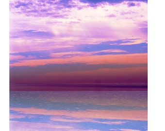 Vast Sky Reflections Greeting Card