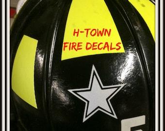 Fire Helmet Sticker Decal Reflective Personal - Fire helmet decals