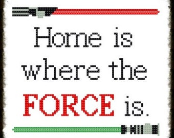 Buy 2 , Get 1 Free...Coupon Code FREEPATTERN - Star Wars Cross Stitch Pattern