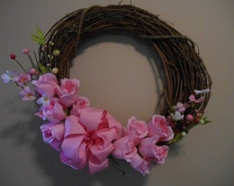 Pink Grapevine wreath