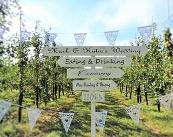 Custom Wedding Arrow Signs, welcome sign, wedding signs, wedding arrows.