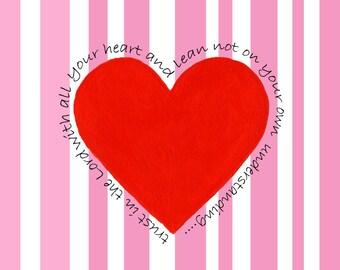 Heart Card Series - Stripes