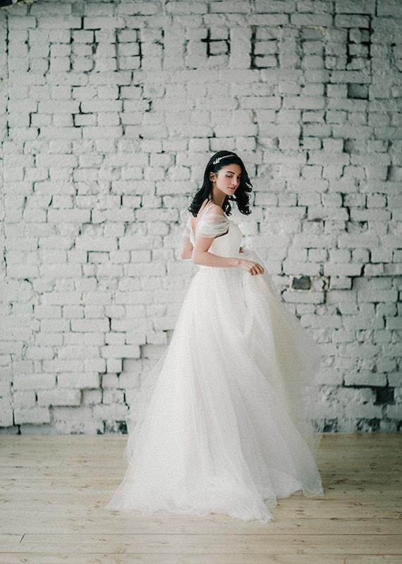 Wedding dress trudy off shoulder wedding by boudoirwedding for Trudy s wedding dresses