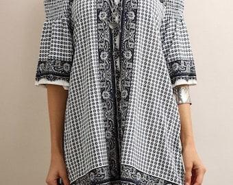 Bohemian Printed Dress Off the Shoulder