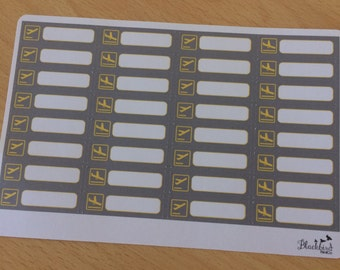 Flight Arrival and Departure Stickers