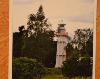 Latvian postcard, Mērsrags Lighthouse