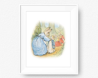 Peter rabbit nursery etsy - Peter rabbit nursery border ...