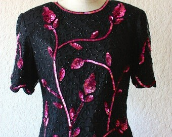 STÉNAY SEQUIN FLOWER Blouse
