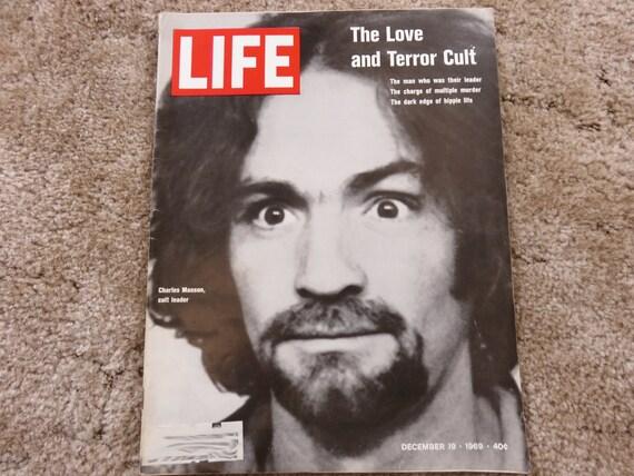 Vintage LIFE Magazine December 19, 1969, Charles Manson, cult leader.