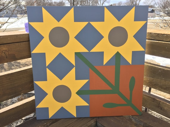 Sunflower Patch Barn Quilt By Frontporchtreasures On Etsy