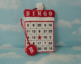 Wristlet Bag - Bingo - Embroidery