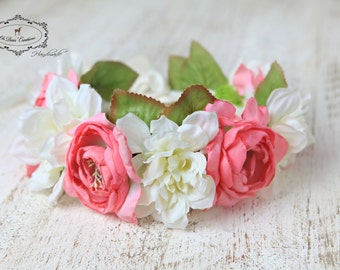 Summer flower crown,Big flower crown,floral headband,garden fairy,birthday party,fantasy,wedding,flower girl,special occasion,photo session