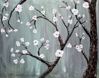 Silver Cherry Blossoms