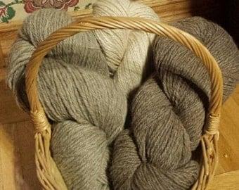 All-Canadian, undyed alpaca yarn from a little hobby farm in Nova Scotia