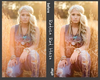 Reduce Red and Yellow Haze Photoshop Action for Photoshop CS3, CS4, CS5, CS6, CC - Instant Download