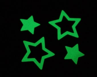 30 double stickers glow in the dark stars