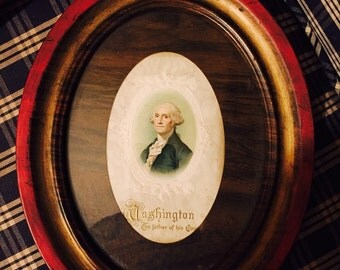 George Washington framed historical picture
