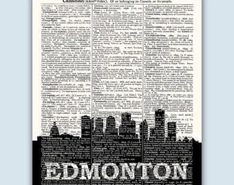 SALE 30% OFF Edmonton Skyline, Edmonton Poster, Edmonton Decor, Edmonton Print, Edmonton Wall Art, Edmonton Gift, Edmonton Wall Decor, Edmon