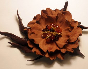 Brooch leather