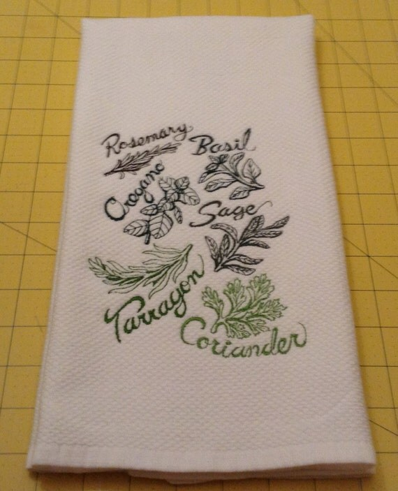 HERB Collage Kitchen Towel Is A Williams-Sonoma Kitchen Towel