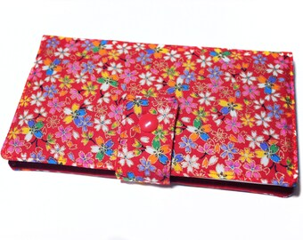 voucher cards all in one in Japanese flower fabric