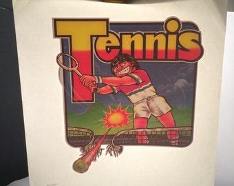 Vintage Tennis Iron On Transfer