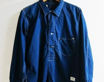 Anachronorm Indigo Dye Pullover Shirt