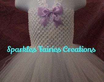 White bunnies tutu dress 6-24months