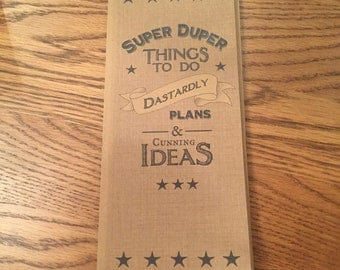 Quirky notepad