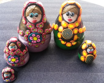 Polymer clay Russian nesting dolls