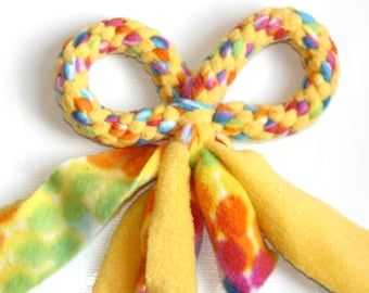 Knotted Dog Toy, Free Shipping, Fleece Tug Toy, Free Gift Warp, Cute Dog Toy, Sturdy Dog Toy, Washable, Ready to Ship, aDOGable Essentials