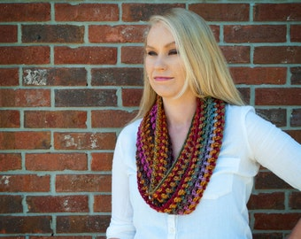 Colorful Lightweight Crochet Cowl