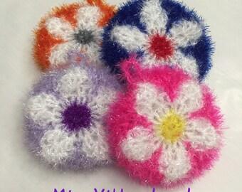 Eco-friendly Multi Purpose Dishcloth, Scrubber/Scrubby, Susemi (수세미) - Flower