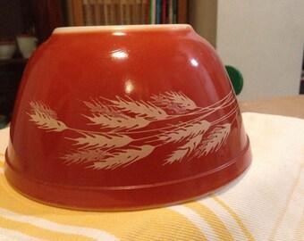 Vintage Pyrex Bowl in Autumn Harvest