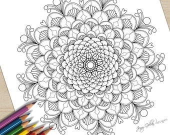 Printable Adult Colouring Page Serenity