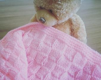 Handmade Knitted Baby Blanket