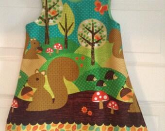 Squirrel woodland pinny