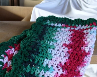 Red White an Green Dish Cloth