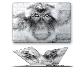 macbook pro hard case rubberized front hard cover for apple mac macbook air pro touch bar 11 12 13 15 monkey