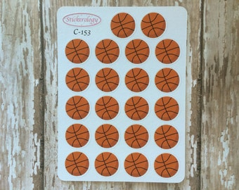 Basketball Stickers, Game Day Stickers,  Sports Practice Reminder Stickers, C-153.