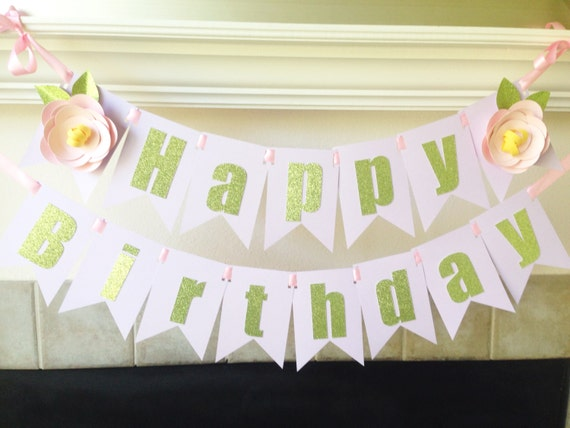 Garden Party Birthday Banner//Fairy By Marlowsstationary