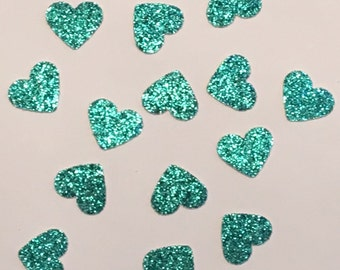 200 Turquoise Heart Confetti Teal Confetti Heart Confetti Glitter Confetti Shower Confetti Baby Confetti Wedding Confetti Birthday Confetti