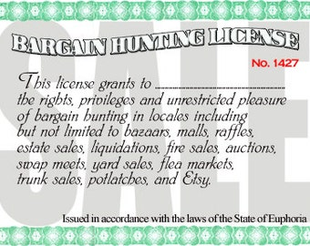 Hunting license etsy for Fishing license illinois
