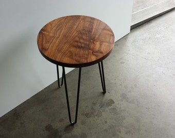 Round Top   Hairpin Leg Side Table