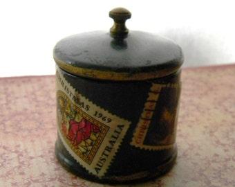 Postage Stamp Dispenser Wooden Vintage - Antique Postage Stamp Dispenser